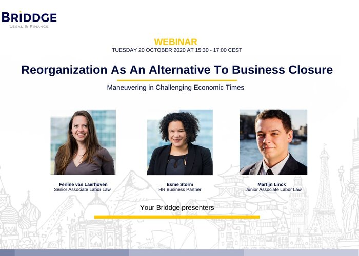 "Webinar ""Reorganization As An Alternative to Business Closure"""
